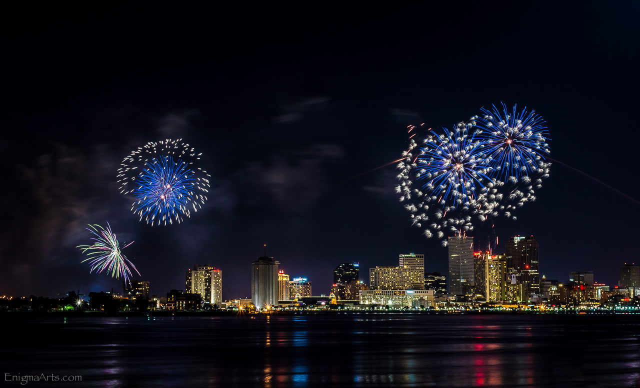 Fireworks Over the New Orleans Skyline